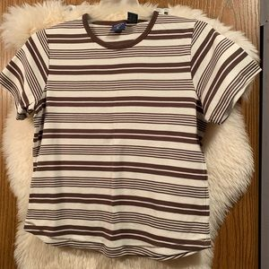 🚀5/$25🚀.  Brown Striped Tee